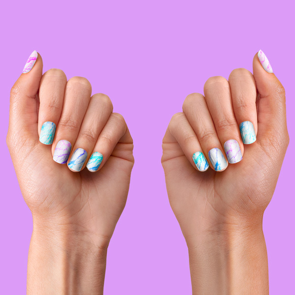PopSockets Nails Unicorn Marble Spectrum hover
